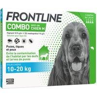 4 pipettes M FRONTLINE Combo Chien 10-20 kg - Antiparasitaire pour chien