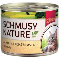 Schmusy Nature Cans 6 x 190g - Chicken, Salmon & Pasta