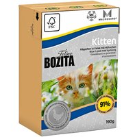Bozita Feline Tetra Pak Package Kitten 190g - Saver Pack: 16 x 190g