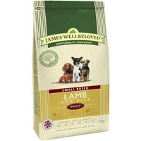 James Wellbeloved Adult Small Breed - Lamb & Rice - 1.5kg