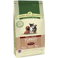 James Wellbeloved Adult Small Breed - Turkey & Rice - Economy Pack: 3 x 1.5kg