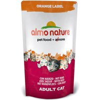 Almo Nature Orange Label Adult Beef Dry Cat Food - 750g
