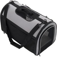 Pet Carrier Freedom with Side Extension - Black & Grey - 50 x 29 x 32 cm (L x W x H)