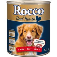 Rocco Real Hearts 6 x 800g - Beef with whole Chicken Hearts