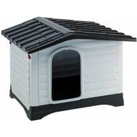 Ferplast Dogvilla Plastic Dog Kennel - Dogvilla 90: L 88 x W 72 x H 65 cm