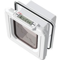 Cat Mate Elite Microchip Cat Flap with Timer Control - Wall Liner Tunnel Extension (White)