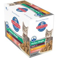Hills Science Plan Feline Adult - Perfect Weight Pouches - 12 x 85g