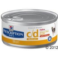 Hills Prescription Diet Feline - c/d Multicare Chicken - Saver Pack: 24 x 156g