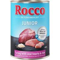 Rocco Junior 6 x 400 g - dinde, cœur de veau, calcium