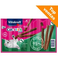 Vitakraft Cat Stick Mini para gatos - Pato y conejo (12 x 6 g)