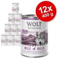 Pack Ahorro: Wolf of Wilderness 12 x 400 g - Green Fields, con cordero