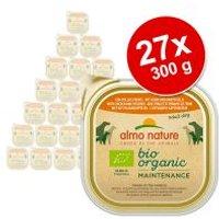 Almo Nature BioOrganic Maintenance 27 x 300 g - Pack Ahorro - Con vacuno ecológico y verduras ecológica