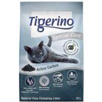 Tigerino Special Care Active Carbon arena aglomerante - 2 x 12 l - Pack Ahorro