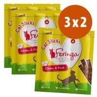 Feringa Sticks 3 paquetes en oferta: 2 + 1 ¡gratis! - Con pollo y pato (9 x 6 g)