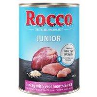 Rocco Junior 6 x 400 g - Pavo con corazón de ternera y arroz