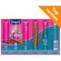Vitakraft Cat Stick para gatos - Healthy: pollo y hierba gatera (6 x 6 g)