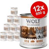 Pack Ahorro: Wolf of Wilderness 12 x 800 g - Oak Woods, con jabalí