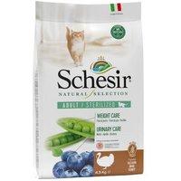 3,5 kg + 1 kg gratis! 4,5 kg Schesir Natural Selection Adult Katzenfutter - Adult mit Huhn