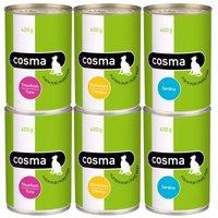 Sparpaket Cosma Original in Jelly 12 x 400 g - Mix Thunfisch & Sardine