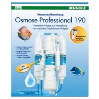 Dennerle Osmose Professional 190 - 1 Stück, mit Spülventil, Hochleistungsmembran, Feinst- und Aktivkohlefilter