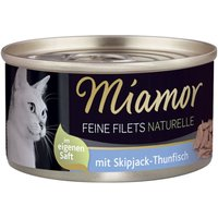 Miamor Fine Fillets Naturelle 6 x 80g - Tuna & Shrimps