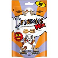 Friandises Dreamies Catisfactions Mix, poulet & canard - lot % : 6 x 60 g