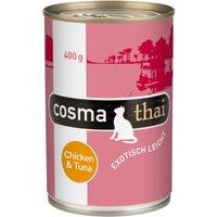 Cosma Thai 6 x 400 g - poulet, thon