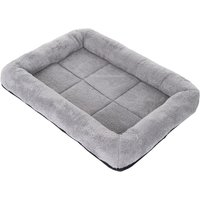 Snuggle Cushion for Dog Carriers and Crates - Grey - Size L: 90 x 59 x 10 cm (L x W x H)