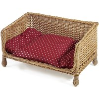 Aumller Wicker Dog & Cat Sofa - 80 x 50 x 43 cm (L x W x H)