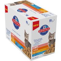 Hills Science Plan Adult Cat Light Chunks in Gravy Pouches - Mixed Pack 24 x 85g