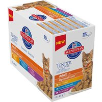 Hills Science Plan Adult Cat Optimal Care Pouches - Poultry Selection 12 x 85g