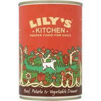 Lilys Kitchen Beef Potato & Vegetable Dinner for Dogs - 6 x 400g