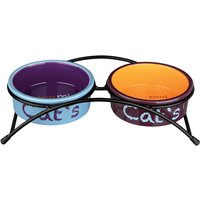 Trixie Eat on Feet Ceramic Bowl Set - 2 x 0.3 litre