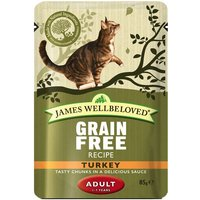 James Wellbeloved Adult Cat Pouches - Turkey - 12 x 85g