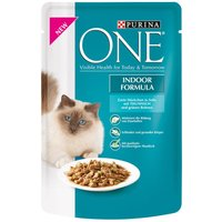 Purina ONE Indoor Formula - 8 x 85g Tuna in Gravy