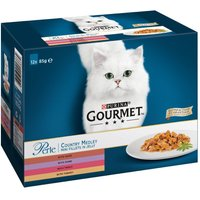 Gourmet Perle Pouches Mixed Mega Pack 96 x 85g - Ocean Delicacies Mini Fillets in Gravy
