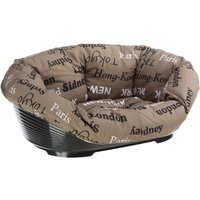 Sofa Dog Basket with Cover - Cities Size 6: 70.5 x 52 x 23.5 cm (L x W x H)