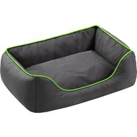 Honeycomb Dog Bed Grey & Green - 90 x 65 x 30 cm (L x W x H)