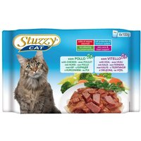 Stuzzy Cat Food Pouches Mixed Pack 4 x 100g - Sterilised: Chicken & Turkey
