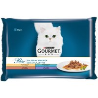 Gourmet Perle Mixed Trial Pack 4 x 85g - Turkey, Tuna, Duck & Lamb