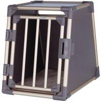Trixie Aluminium Dog Crate - Grey - Size M: 59 84 63 cm (L x W x H)