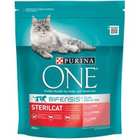 Purina ONE Sterilcat Salmon & Wheat Dry Cat Food - Economy Pack: 4 x 800g