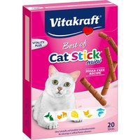 Vitakraft Mini Cat Sticks Best Of Mixed Pack - 20 x 2g (5 Flavours)