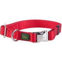 Collier Hunter Vario Basic AluStrong, rouge pour chien - taille L : tour de cou 45-65 cm