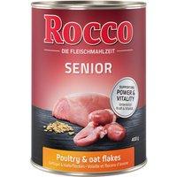 Rocco Senior 6 x 400 g - volaille, flocons d'avoine