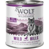 Wolf of Wilderness Senior 6 x 800g - Wild Hills - Duck & Veal