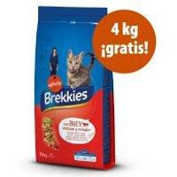 Brekkies 12 / 15 kg pienso para gatos en oferta: hasta 4 kg ¡gratis! Salmón, Atún, Verduras y Cereales (11 + 4 gratis)
