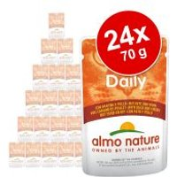 Almo Nature Daily Menu 24 x 70 g - Pack Ahorro - Pollo y salmón
