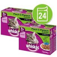 Whiskas 7+ años 24 x 85/100 g en bolsitas - Pack Ahorro - Selección de aves en salsa (24 x 100 g)