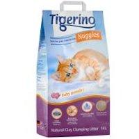 Tigerino Nuggies arena aglomerante con olor a talco - 2 x 14 l - Pack Ahorro